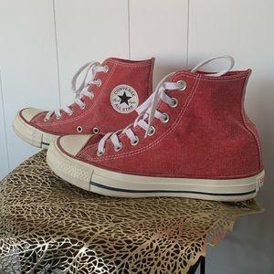 Red Converse high tops Chucks